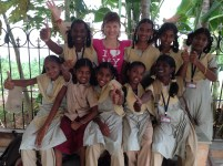 Valerie Bernaert happy with the girls