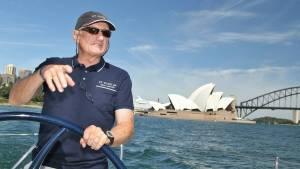 Noel Cornish on his yacht
