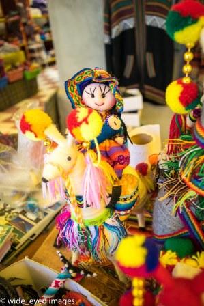 Doll in the Colchani markets, Bolivia