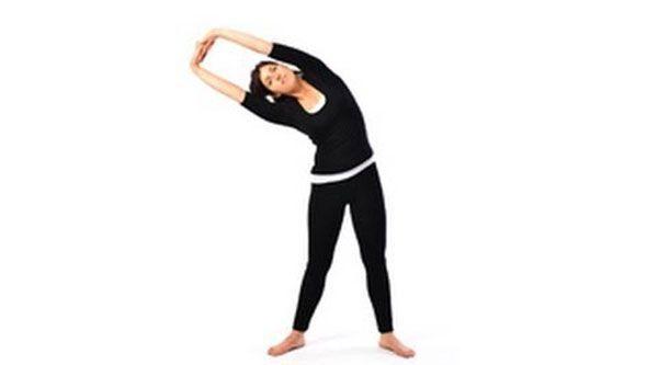Half moon yoga posture