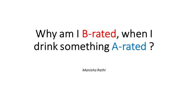 Why am I B-rated, when I drink
