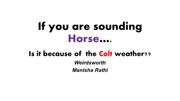 If you are sounding Horse