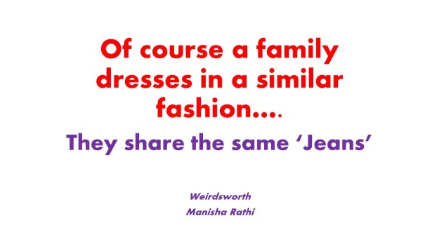 Of course a family dresses in a similar