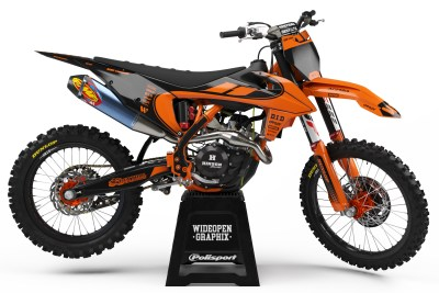 ktm curve orange crossdekaler motocross