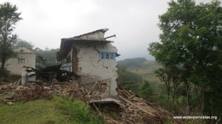 Duhkharpa - with 90 houses all damaged, all residents staying outside