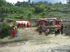 Displaced villagers from Dhade forming their own camp