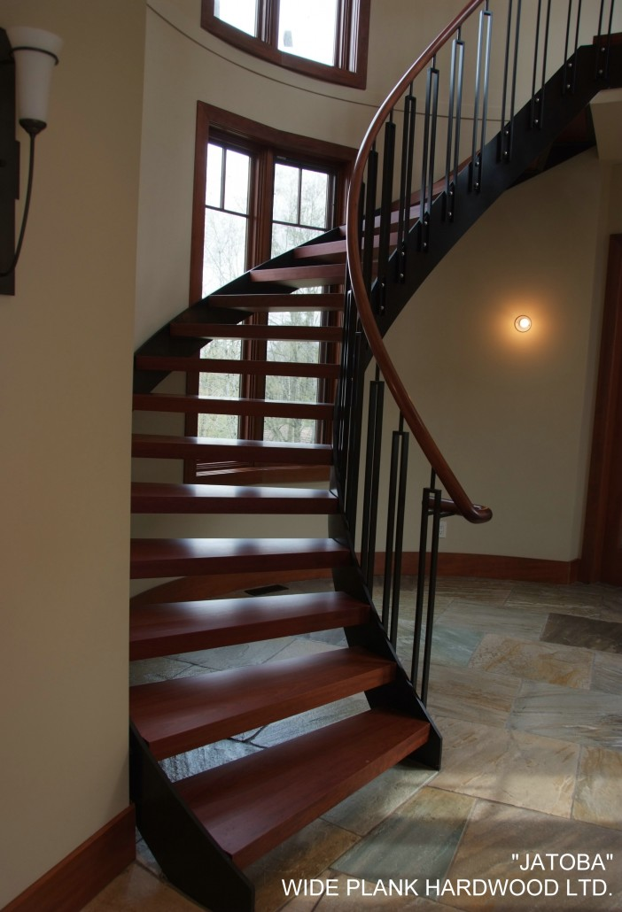 Wide Plank Hardwood Stairs