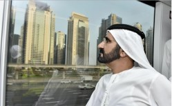 Sheikh Mohammed takes the new tram