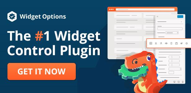 Widget Options The #1 Widget Control Plugin
