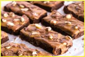 Resep Snicker Fudge Brownies Asli Enak