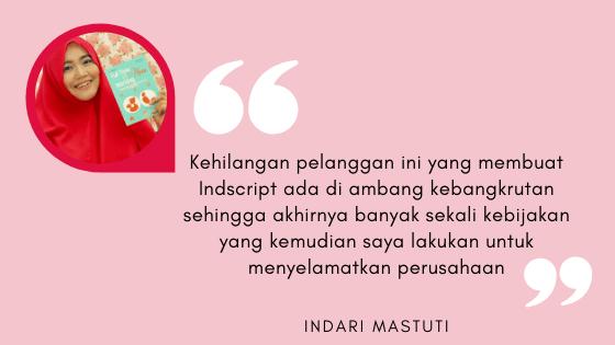 Quote teh Indari Mastuti tentang Kebangkrutan