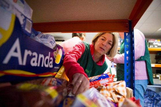 Warehouse volunteer donations