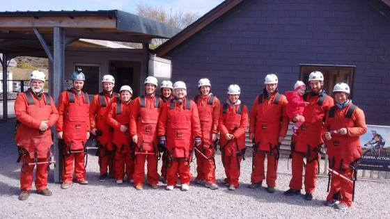 Fundraisers for foodbank take on the zipwire