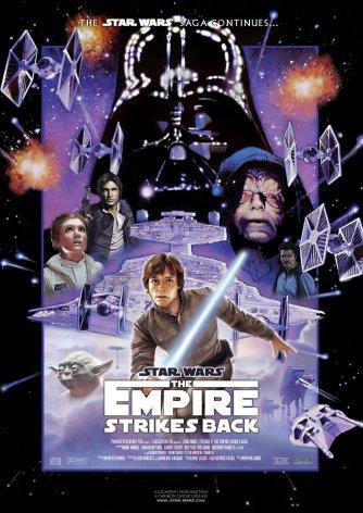 """Dla porównania plakat V części """"Gwiezdnych Wojen""""."""