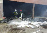 Pożar wiaty na ul. Krótkiej w Więcborku