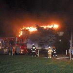 Pożar poddasza w budynku jednorodzinnym