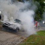 Witkowo: Pożar samochodu osobowego