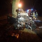 Wypadek na drodze powiatowej