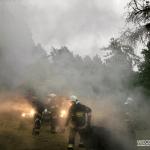 Pożar budynku gospodarczego w Radońsku