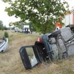 Zderzenie dwóch samochodów osobowych na drodze wojewódzkiej nr 241