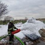 Sośno: Pożar nieużytków na bazie GS