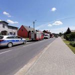 Sypniewo: Strażacy usuwali plamę oleju, w międzyczasie doszło do kolizji motoroweru