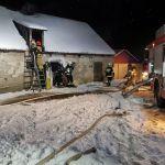 Włościbórz: Poranny pożar stodoły