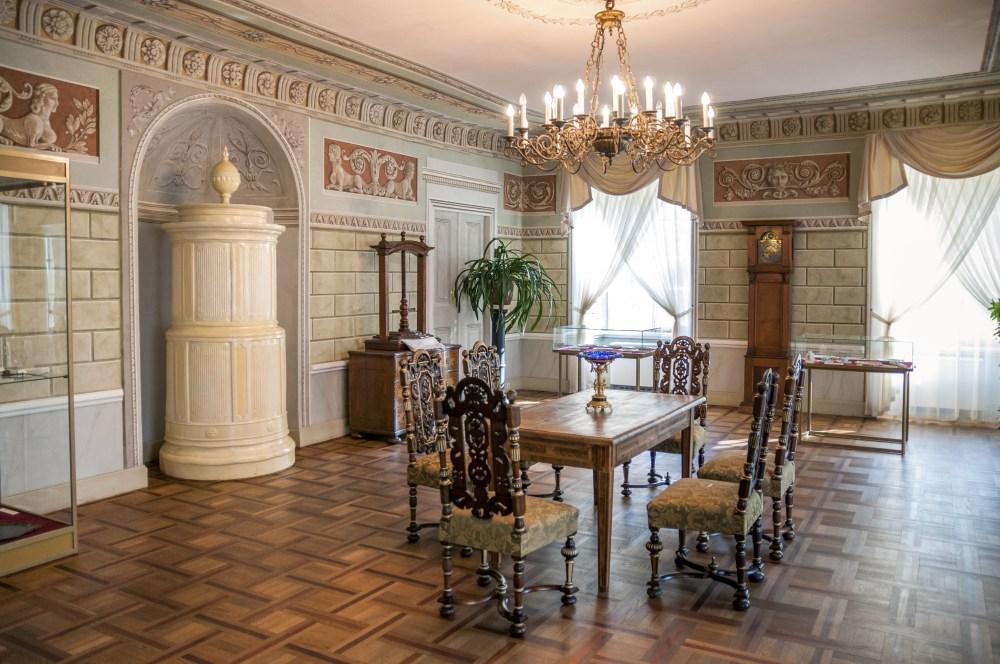 Pałac w Dobrzycy, zabytkowe wnętrza. fot. Dariusz Bednarek