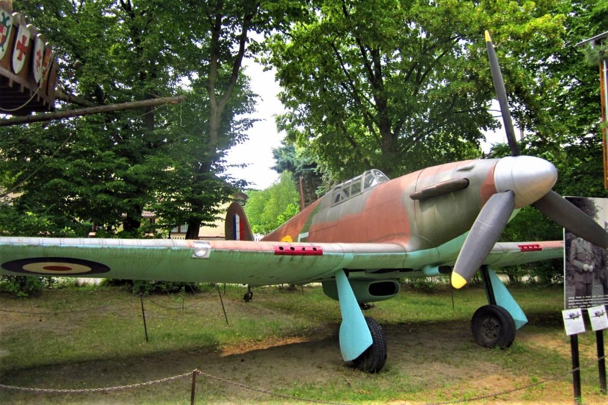 Muzeum Arkadego Fiedlera w Puszczykowie. Model samolotu z czasów II wojny światowej