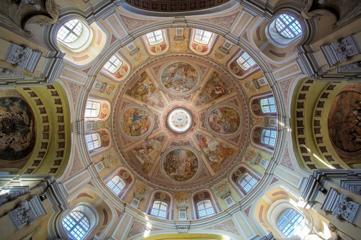 Kopuła bazyliki w Trzemesznie
