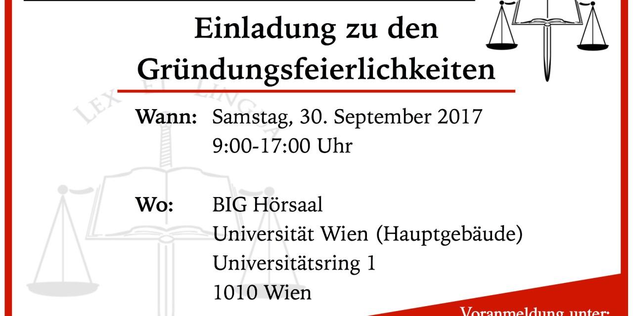 Gründung der Österreichischen Gesellschaft für Rechtslinguistik