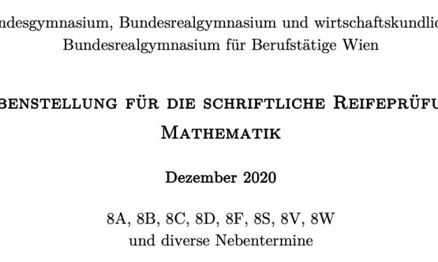Das war die Mathematikmatura