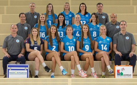 1. Frauenmannschaft des VC Wiesbaden.