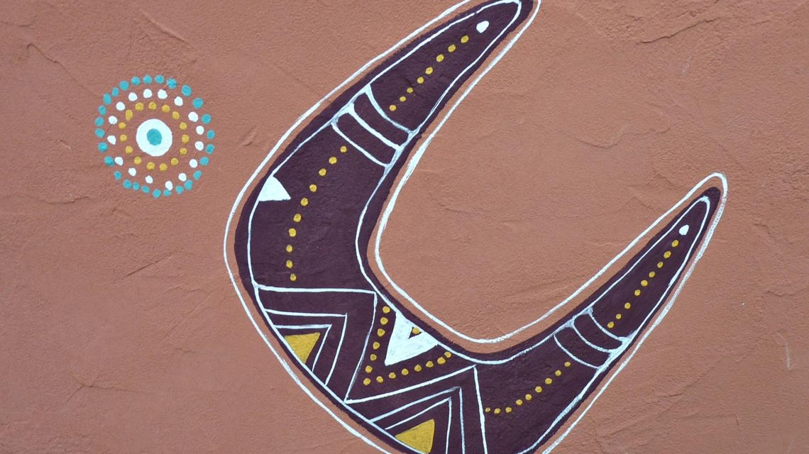 Fasanerie: Klare Formen, bunte Farben, Aborigines Kunst. Foto Instinkknipser / pixelio.de