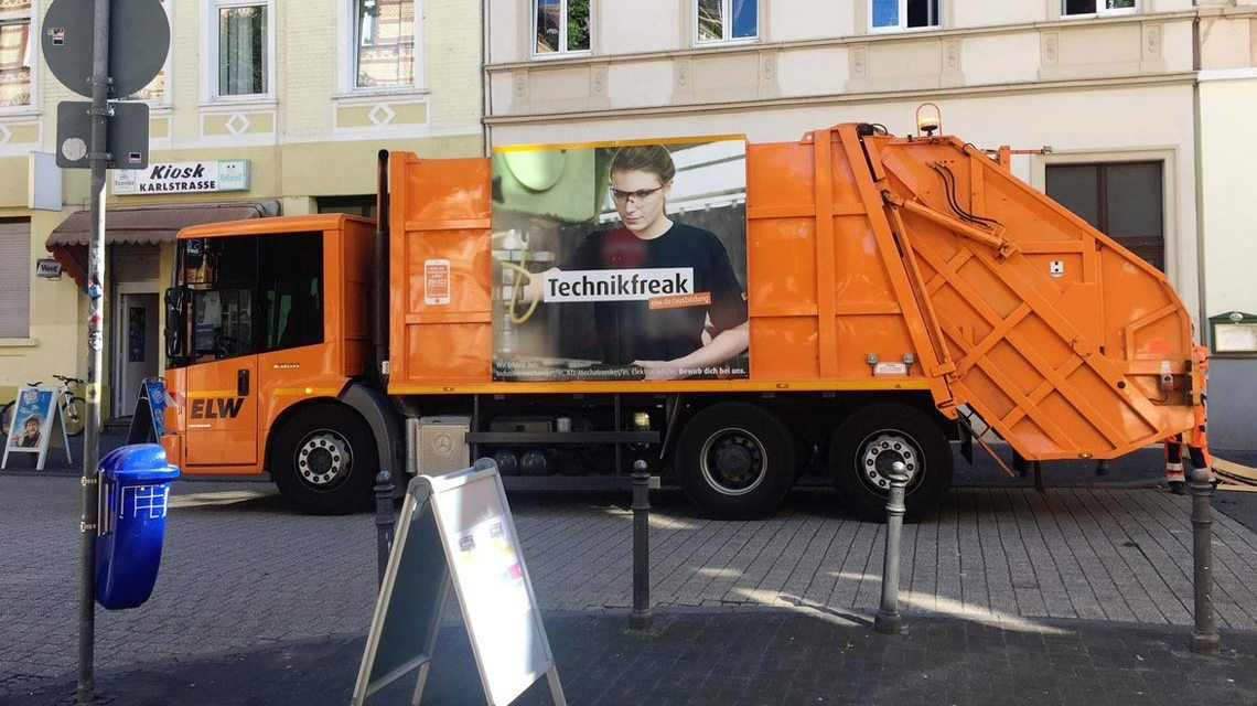 Müllentsorgung in Wiesabden. ©2017 ELW