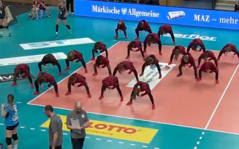 Volleyball Playoffs, 1. Spiel, SC Potsdamm gegen VC Wiesbaden. Bild: Sportdeutschland TV