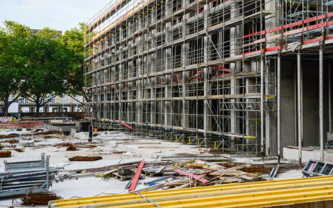 Baustelle des RheinMain CongressCenter. Bild: Volker Watschounek