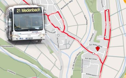 """Die Haktestelle """"Ginsterweg"""" entfällt ab dem 7. Juni vorübergehend. Bild: Open Street / Volker Watschounek"""