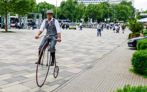 Stadtradeln – Fahrräder von anno dazumal sind auch heute noch en vogue. Archivbild: Volker Watschounek