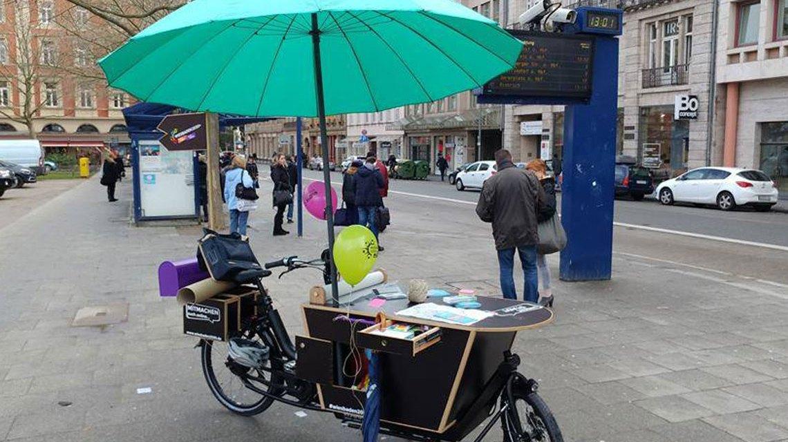 Info-Mobil on tour ... Bild: Dezernat Stadtentwicklung