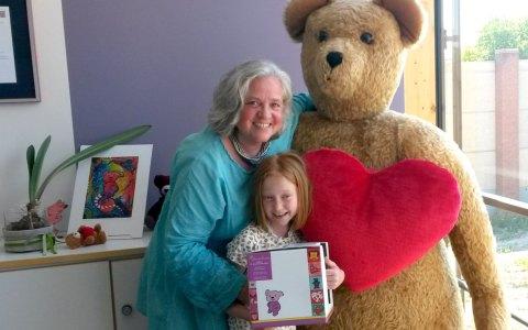 Die achtjährige Katharina Klug verzichtet auf Geschenke. Bild: Bärenherz