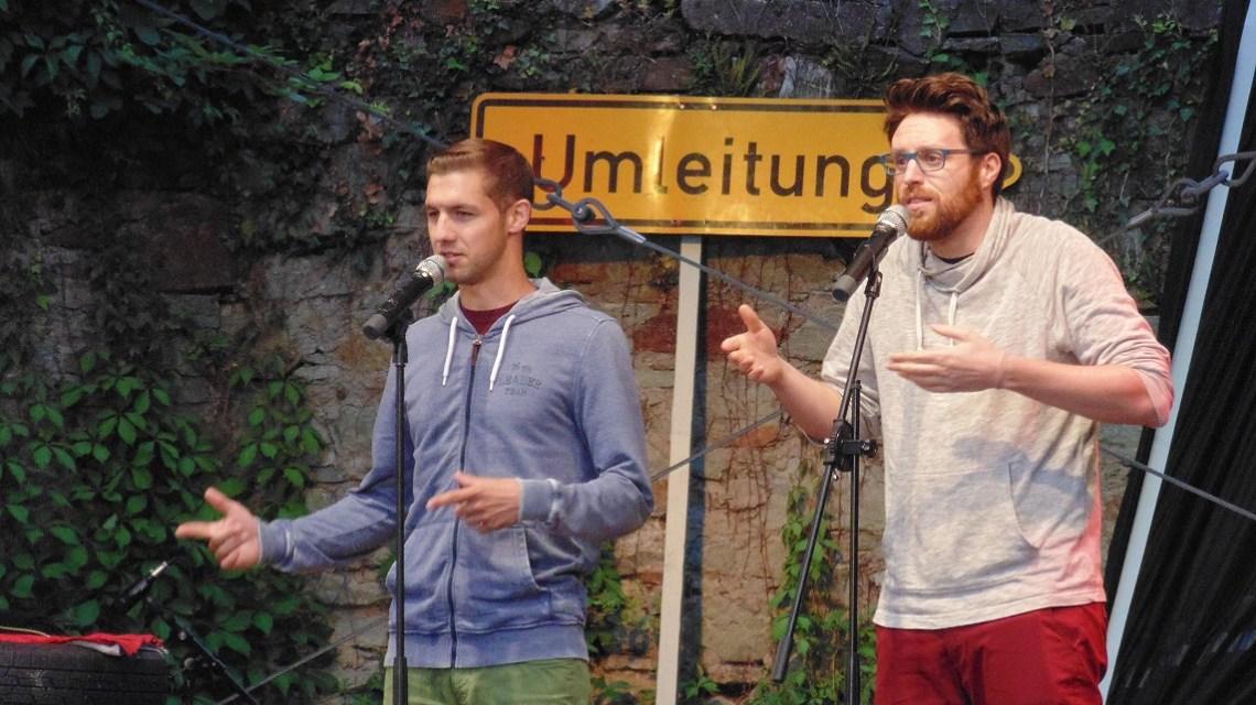 Die Fabelstapler beim Poetry Slam 2017 Wiesbaden, Sommerfestspiele ©2017 Heiko Schulz