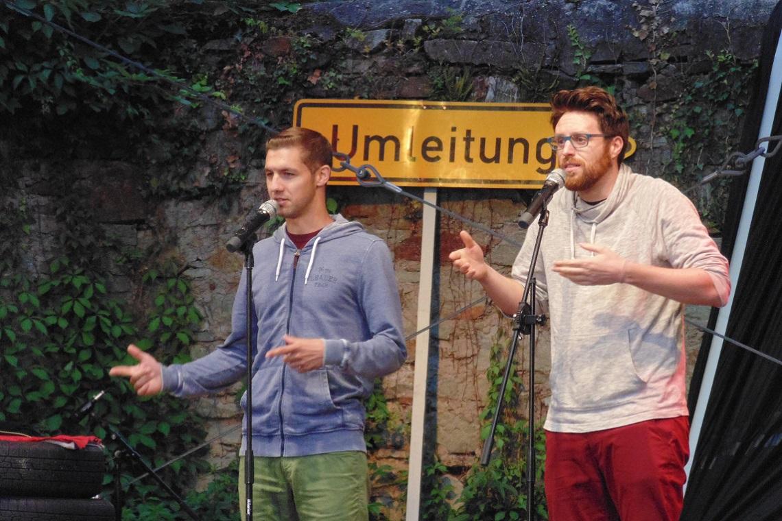 Die Fabelstapler beim Poetry Slam 2017 Wiesbaden, Sommerfestspiele - Bild: Heiko Schulz