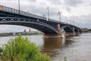 Sanierungsarbeiten an der Theodor Heus Brücke. Bild: Bau- und Tiefbauamt