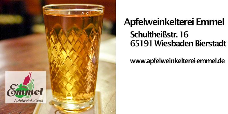 Die Apfelweinkelterei Emmmel in Wiesbaden Bierstadt. Bild: Volker Watschounek