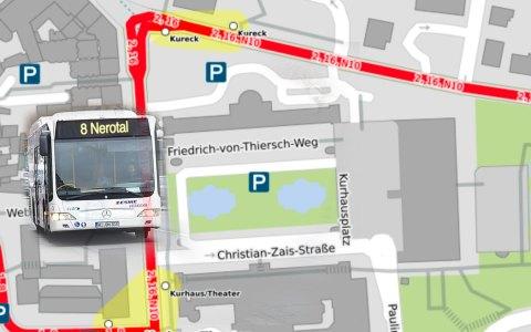 Busumleitung zum Ladies Run. Bild: Open Street / Volker Watschounek