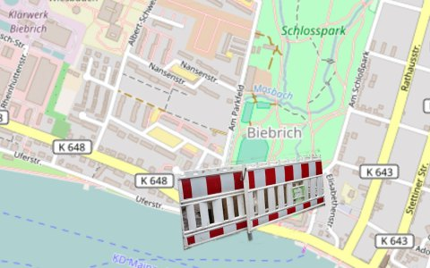 Das Biebricher Schloss wird weiträumig gesichert. Bild: Open Street / Volker Watschounek