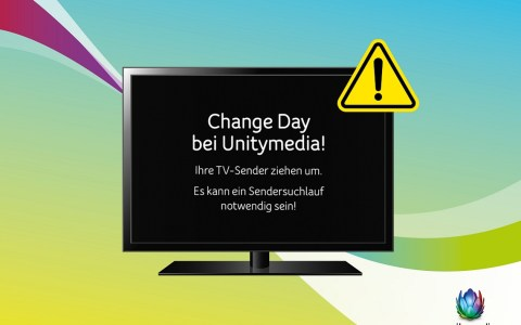 TV-Kabel Unitymedia Change Day - Bild: Unitymedia