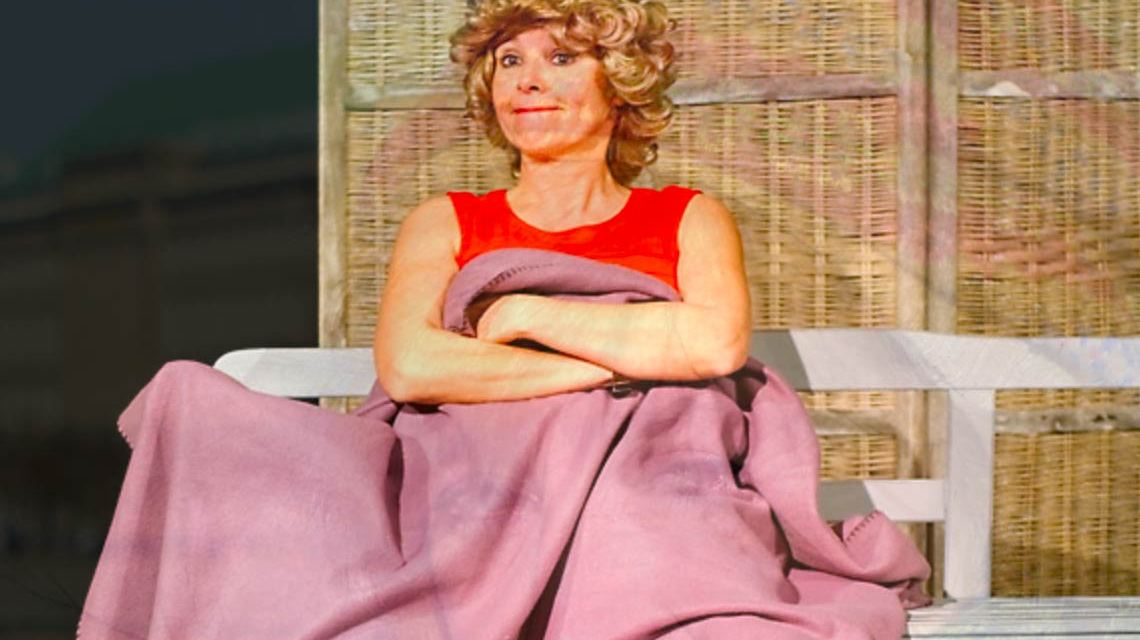Die Münchener Kabarettistin Angelika Beer, mit ei, nicht mit ai. Bild: Peter Freese