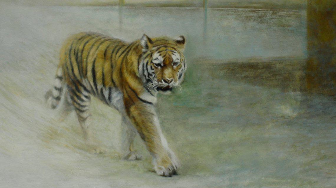 Wilde Tiere auf Leinwand gebannt. Bild: Elke Steiner